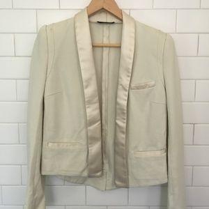The Kooples cream military blazer